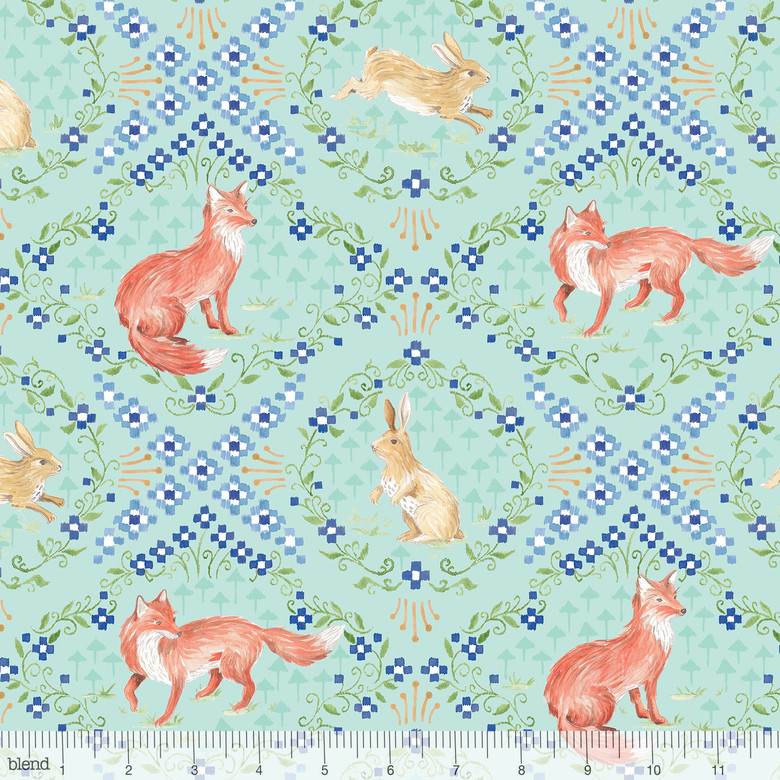 Wildwood Hare and Fox Blue