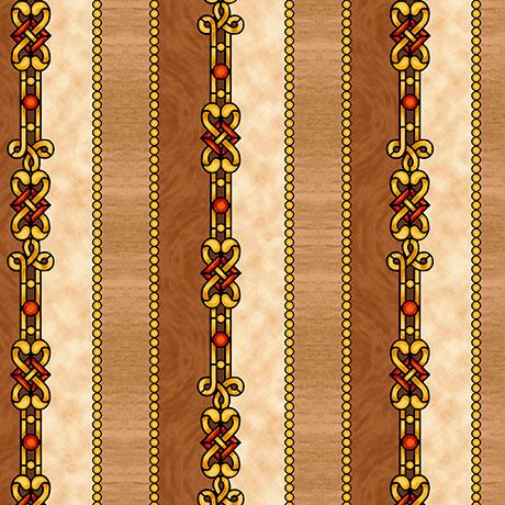 Decorative Stripe Tan
