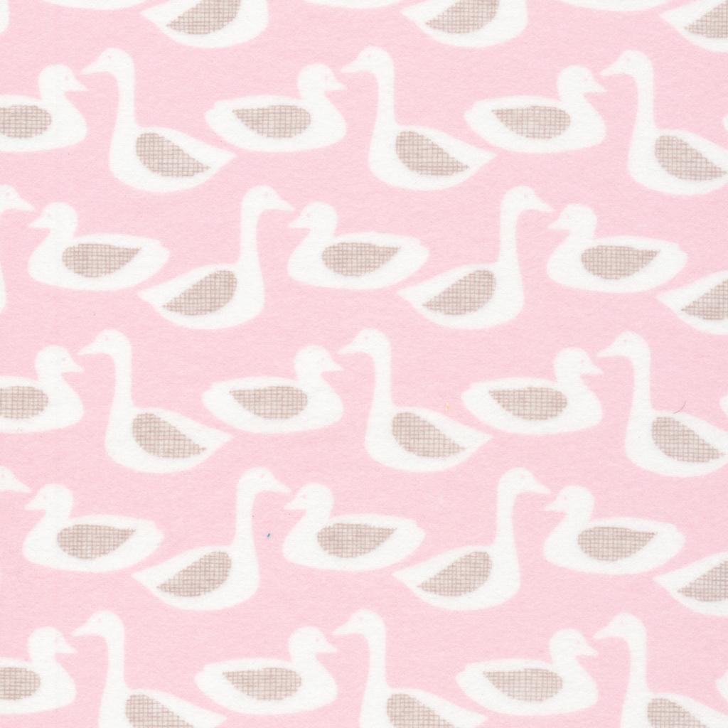 Flannel Ducks Pink
