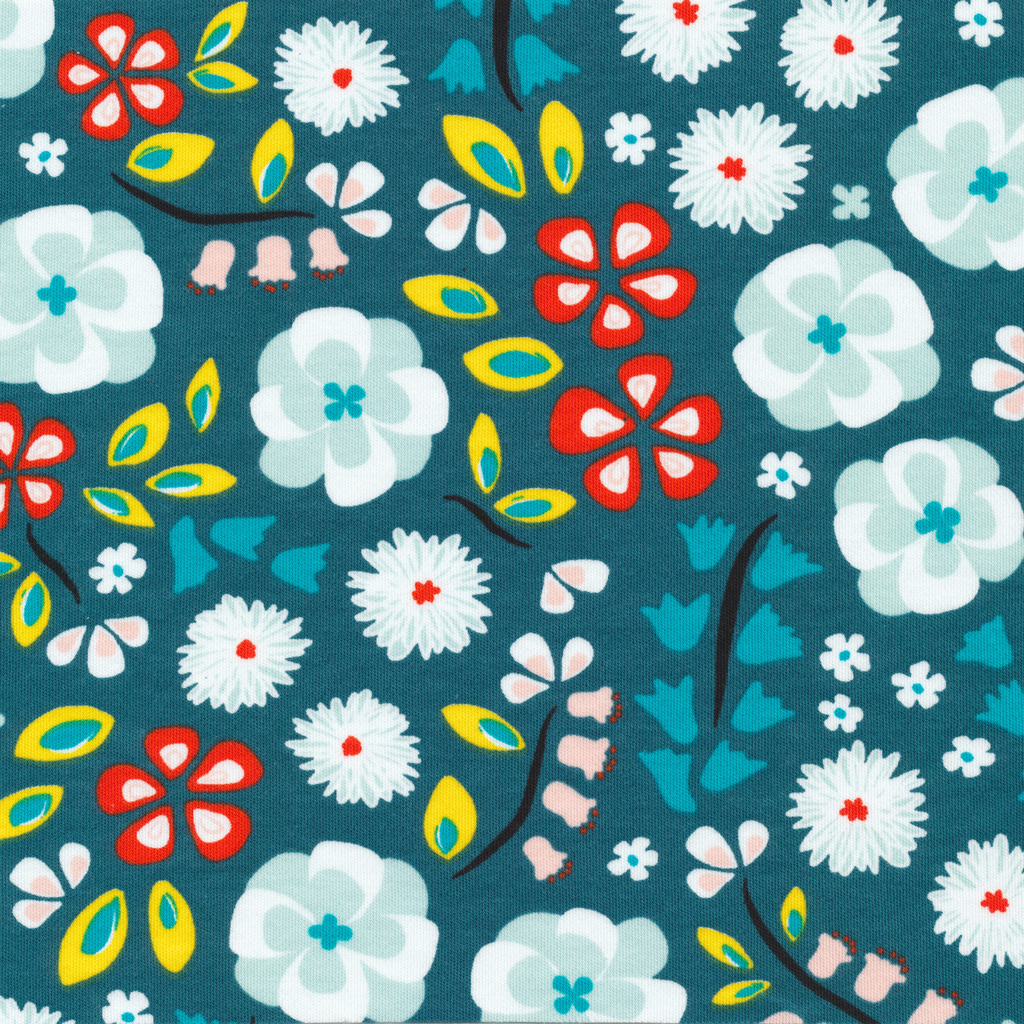 Knit Flowers Teal