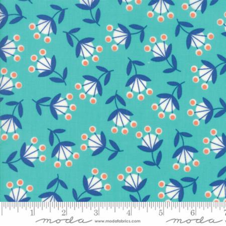 Floral Floret Aqua