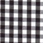 1/4 Black Gingham - Fabric Finders
