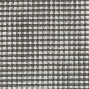 Chocolate Brown Gingham Fabric  1/16