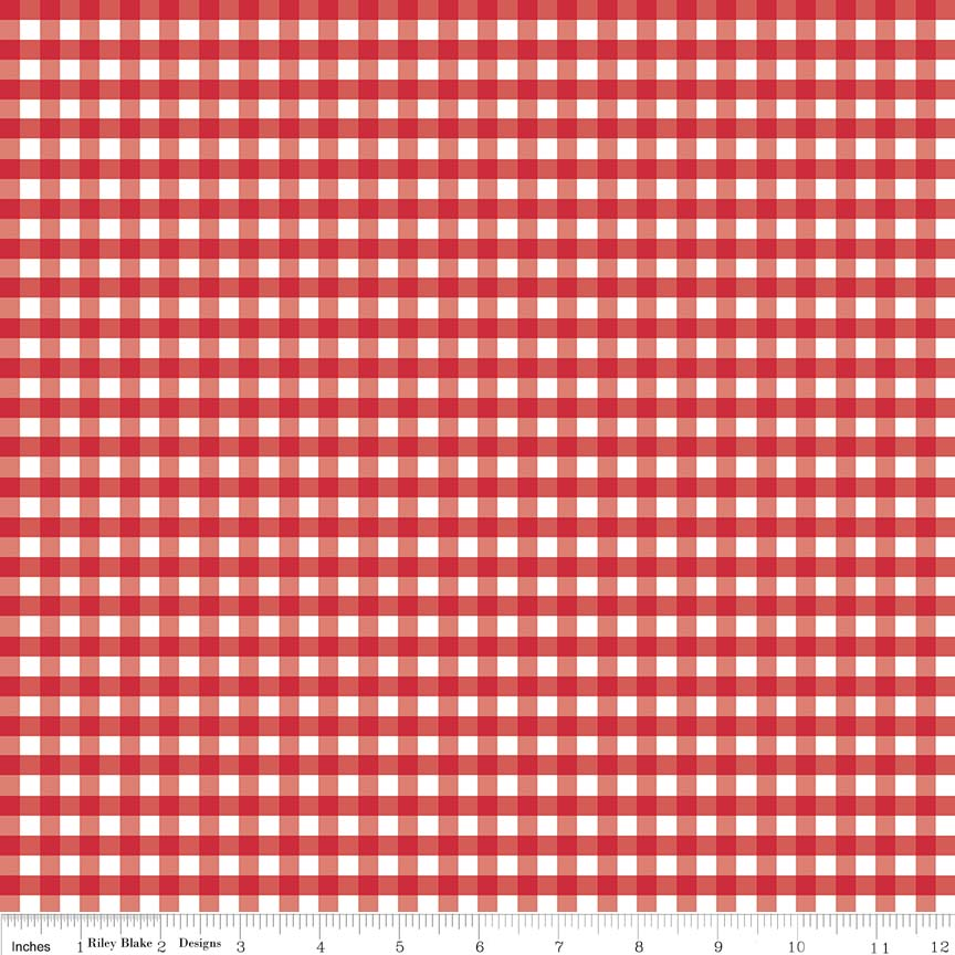 Small Woven Gingham Red