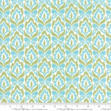 Bungalow Tapestry Aqua Lime