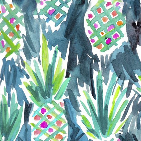 Wild Pineapples Teal