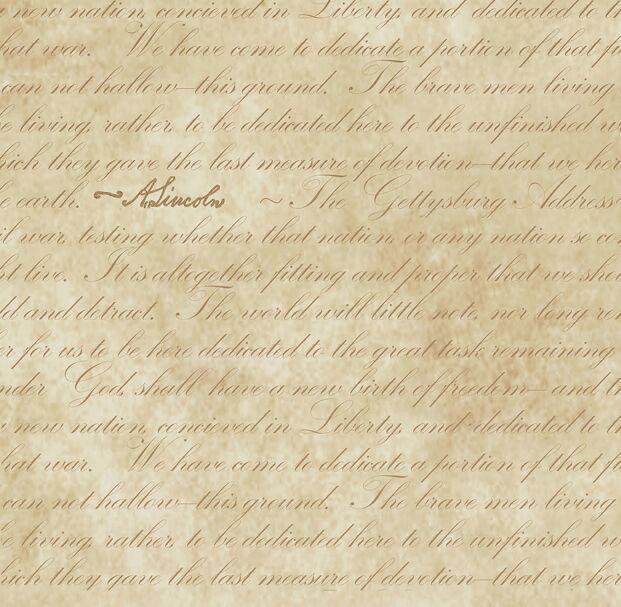 Gettysburg Address Parchment