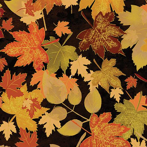 Harvest Gold Leaf Black