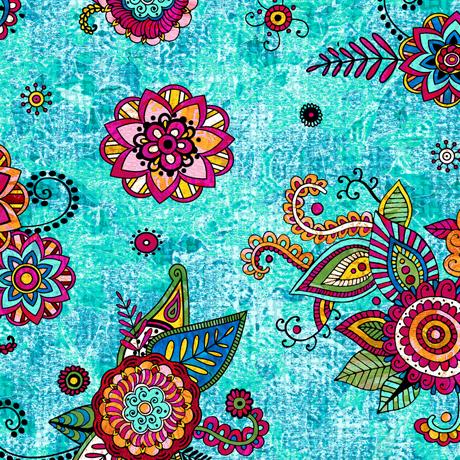 Fiorella Floral Turquoise