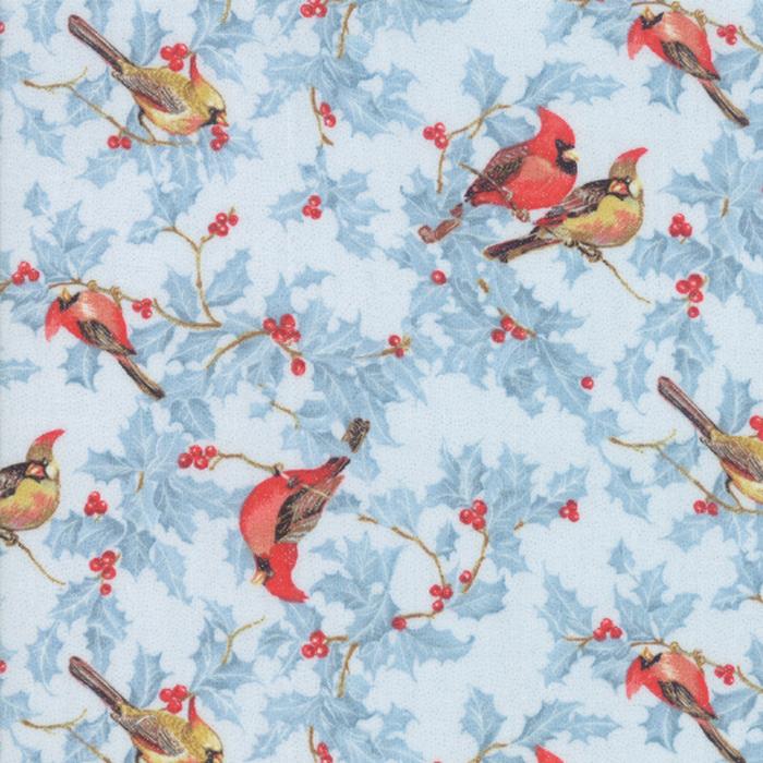 Metallic Cardinals Light Blue