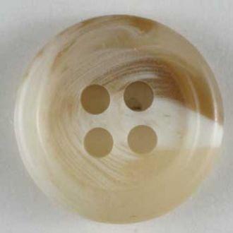 Horn Button - 11mm 4 holes color 14