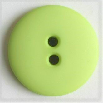 Soft Green Buttons - 15 mm 2 hole color 20