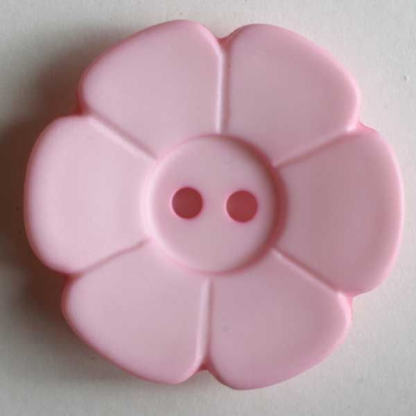 Pretty Pink Flower - 15 mm 2 hole color 16