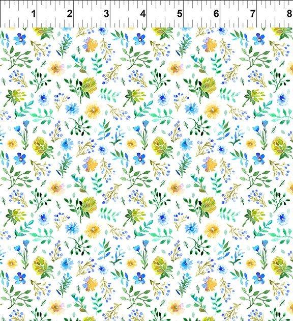 Watercolor Beauty Garden Green