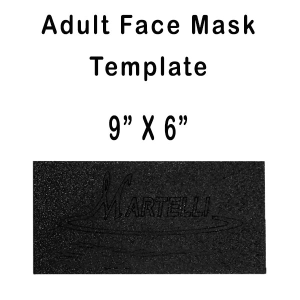 Adult Face Mask Template 9x6 (Martelli)