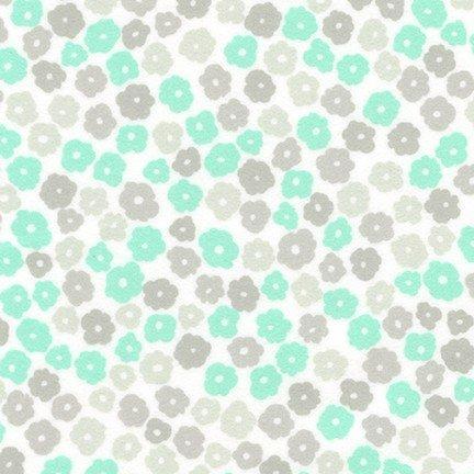 Cozy Flannel Flowers Mint