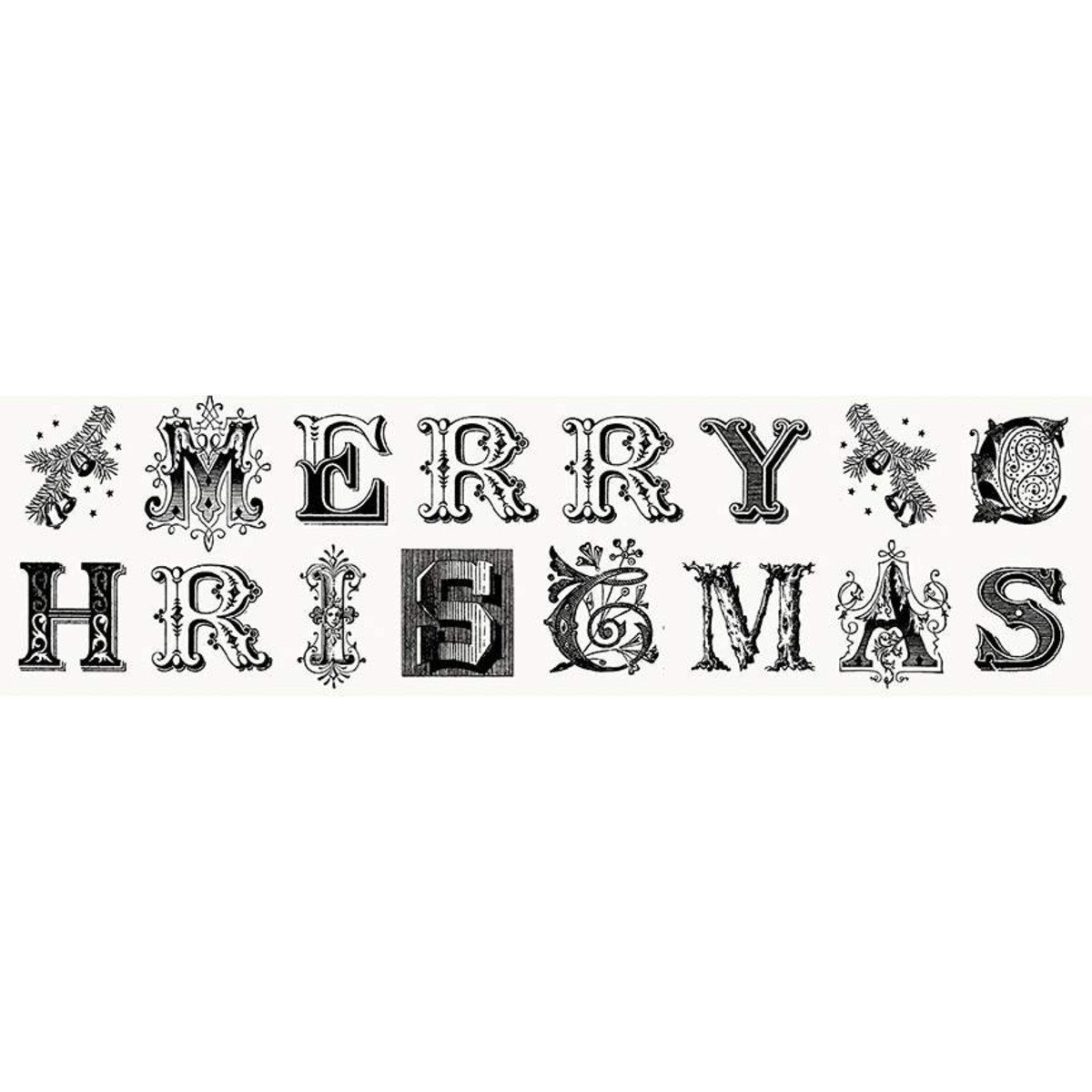 All about Christmas Typography White Panel-12.5 inches