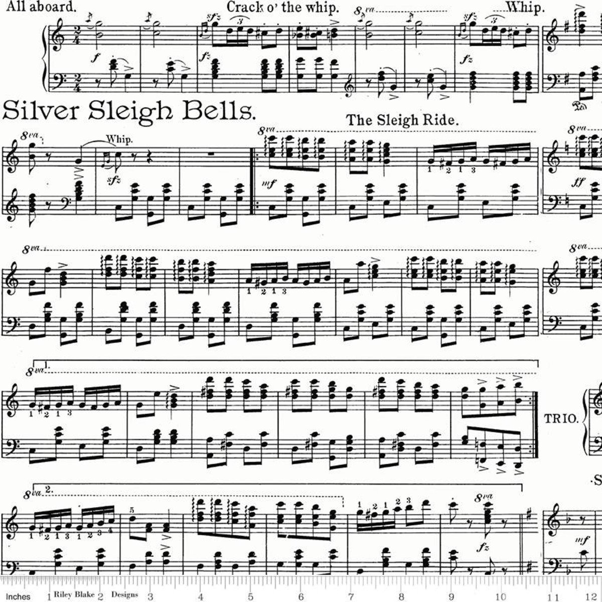 All About Christmas Sheet Music White