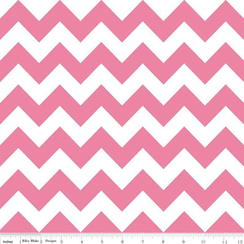 Medium Chevron Hot Pink