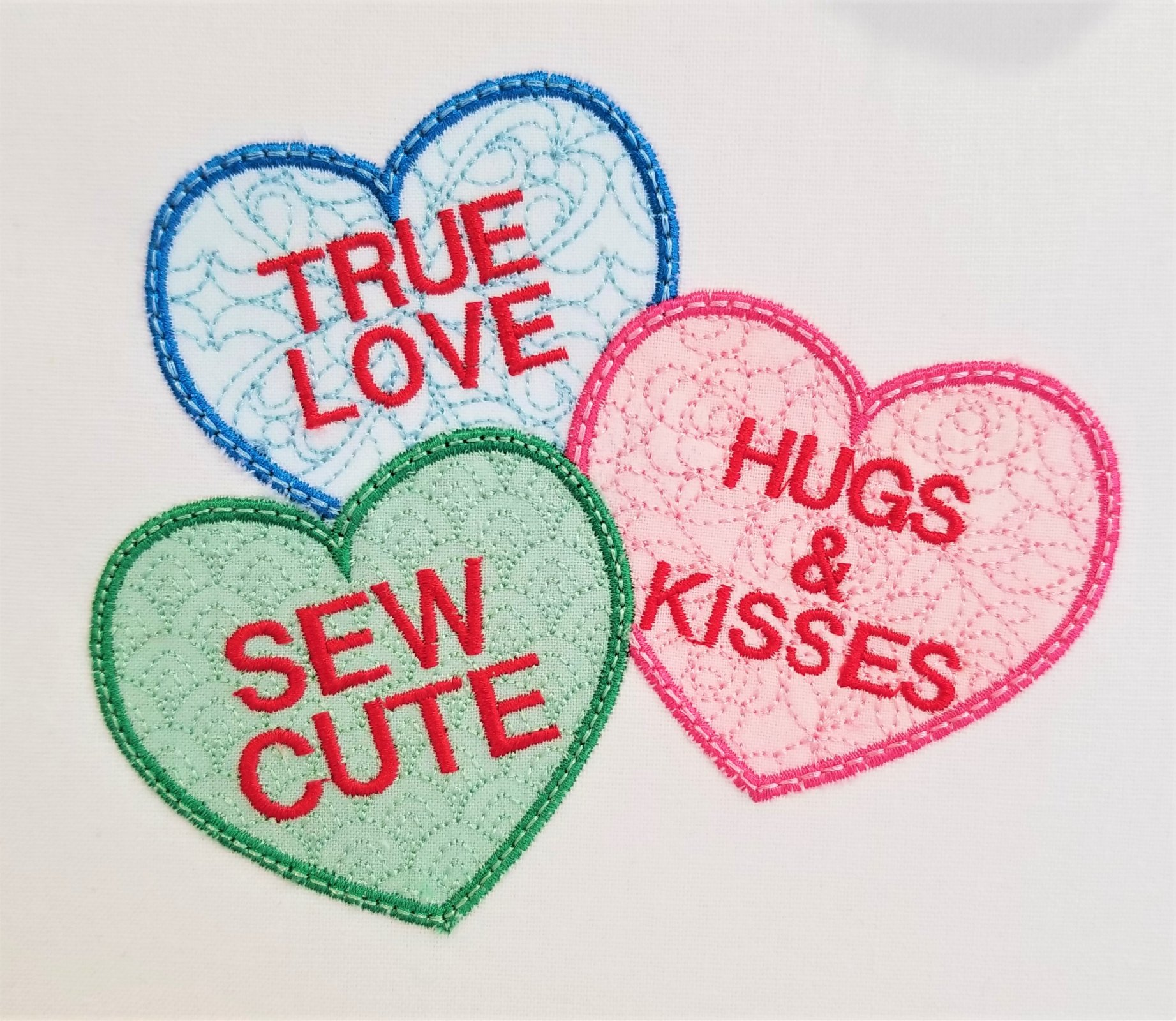 CBF Sew Cute Sweethearts Applique Embroidery Design