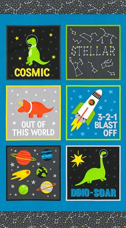 Stratosphere Dino-soar in Space Fabric Panel