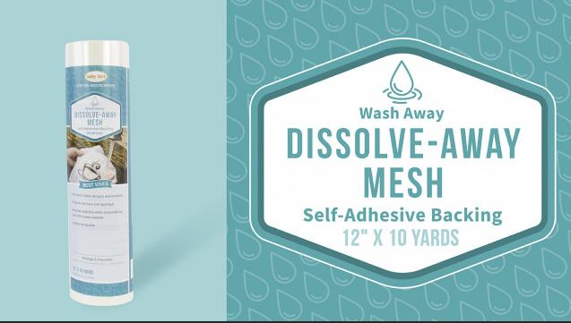 Dissolve Away Mesh Adhesive