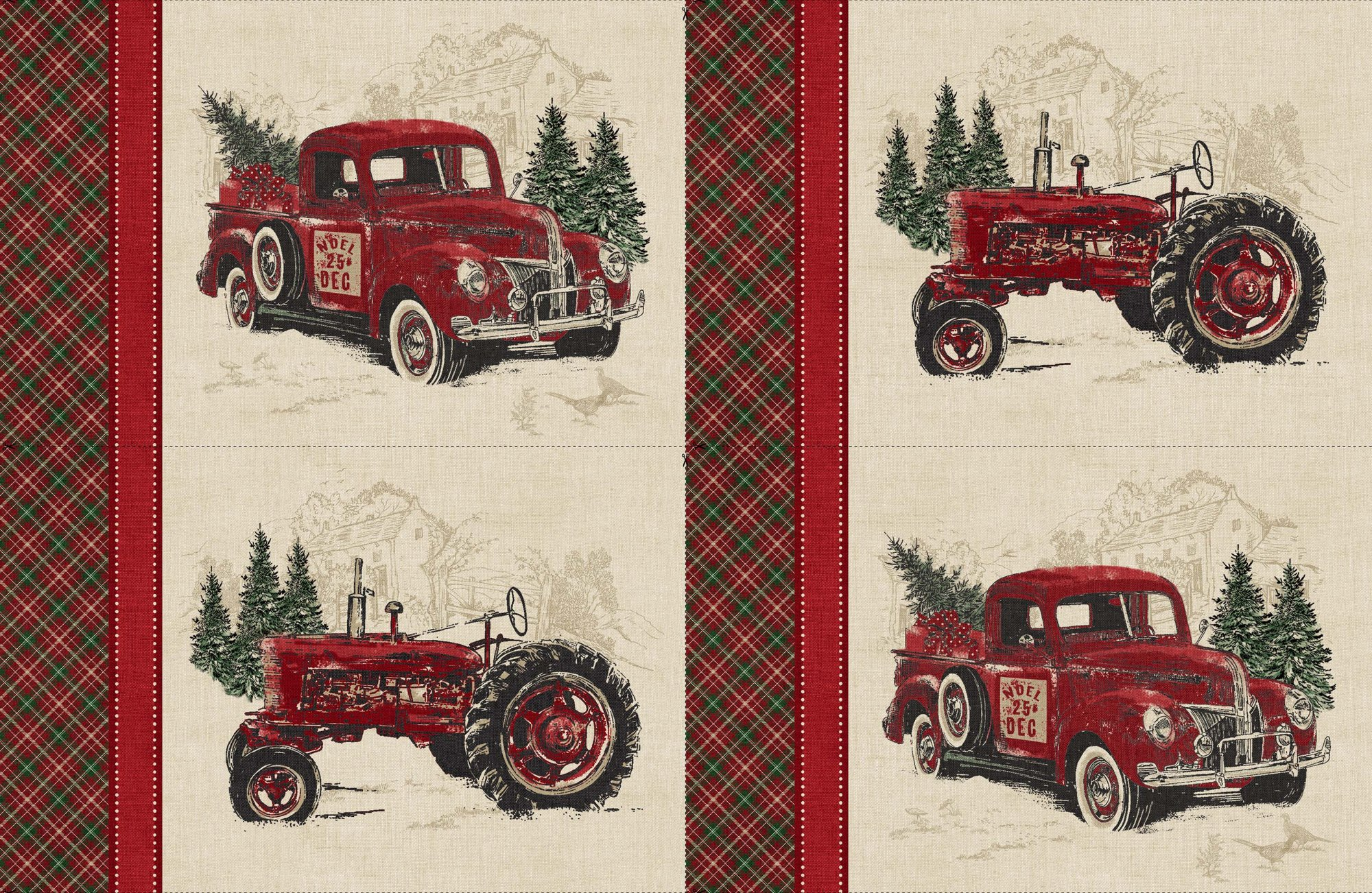 VINTAGE CHRISTMAS PLACEMATS PANEL