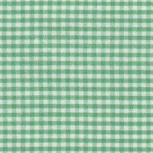Emerald Gingham Fabric 1/16