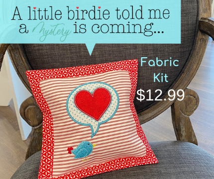 A Little Birdie Told Me Mini Pillow Fabric Kit - RED