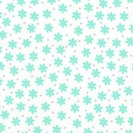 Cozy Flannel Mint Flower