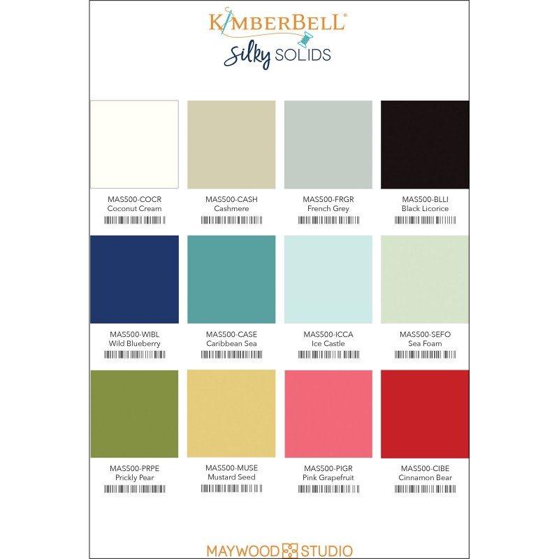 KimberBell Encore Silky Solids Fat Quarter Bundle