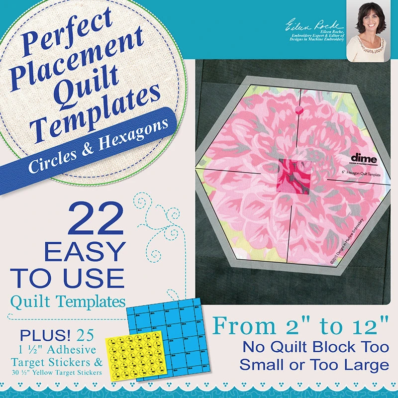 Perfect Placement Quilt Templates - Circles and Hexagons