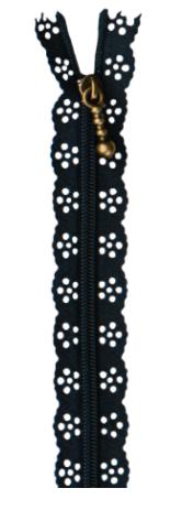 Kimberbellishments 14in Lace Zipper Navy