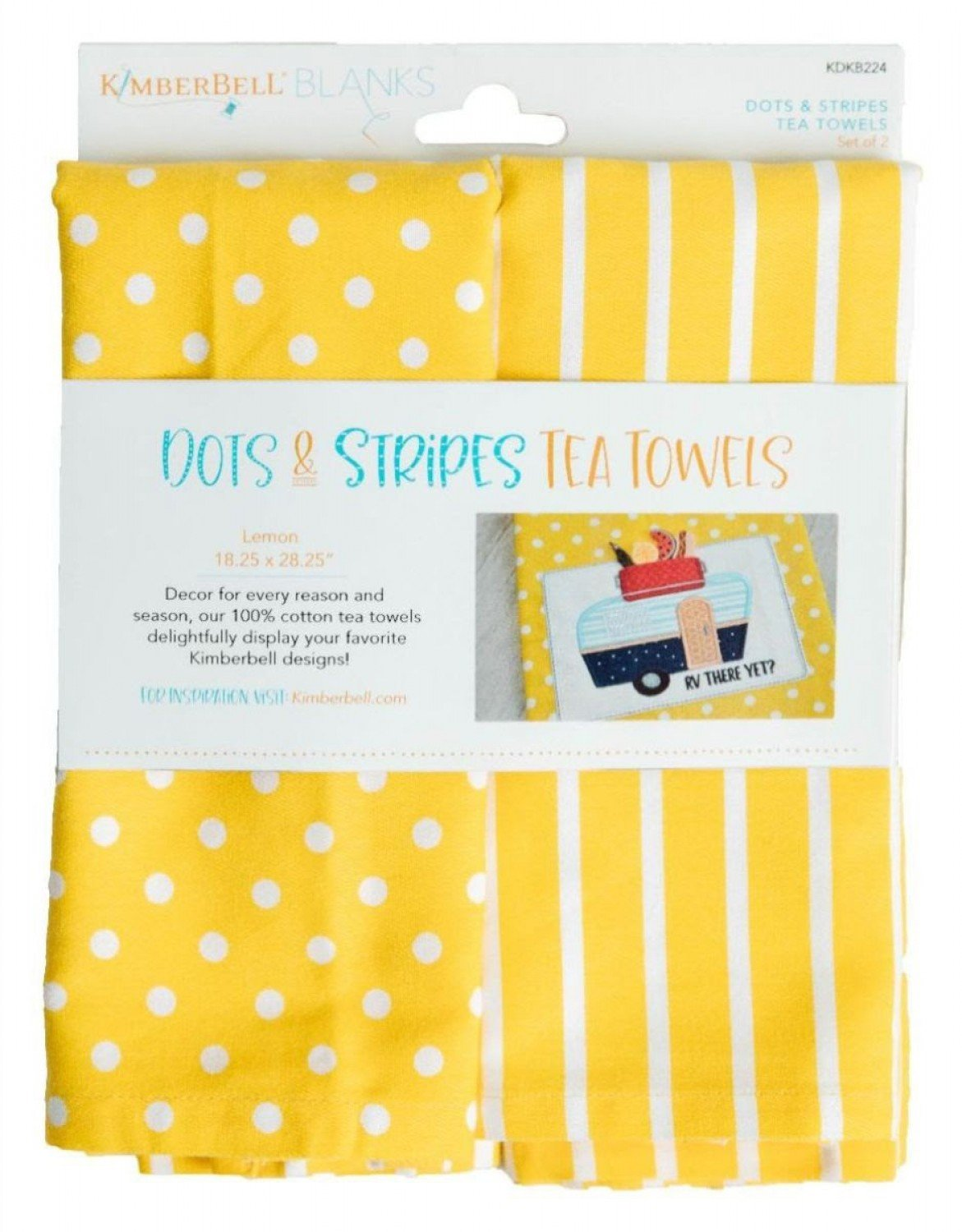 Dots and Stripes Tea Towels Lemon