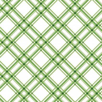 Kimberbell Basics Diagonal Plaid Green