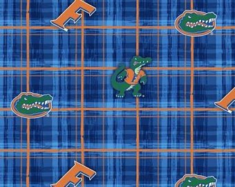 University of Florida Collegiate Plaid Print