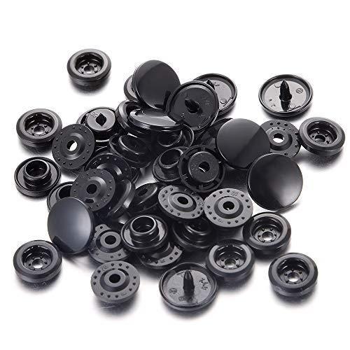 Plastic Snaps BLACK 50 sets
