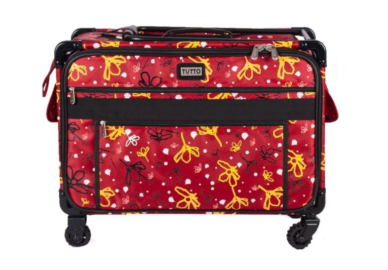 Tutto XL-Large 24 Inch Red Machine Trolley With Daisy