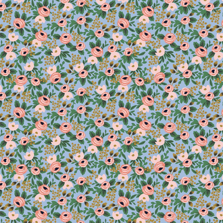 Garden Party - Rosa - Chambray Metallic Fabric