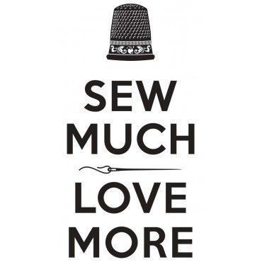 Sew Much Love More Vinyl Decal