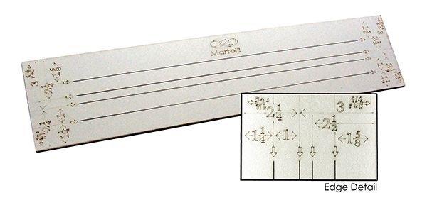 Martelli 24 Strip Ruler with multiple widths