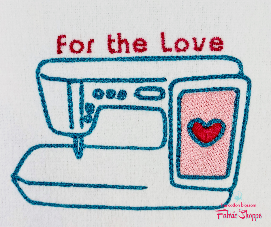 For the Love Embroidery Design
