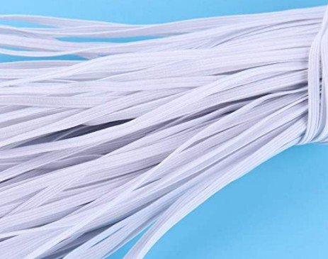 Soft 1/4 Elastic (Flat) - WHITE