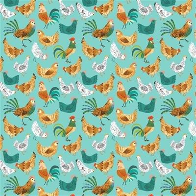 Dale Farm Chickens Aqua