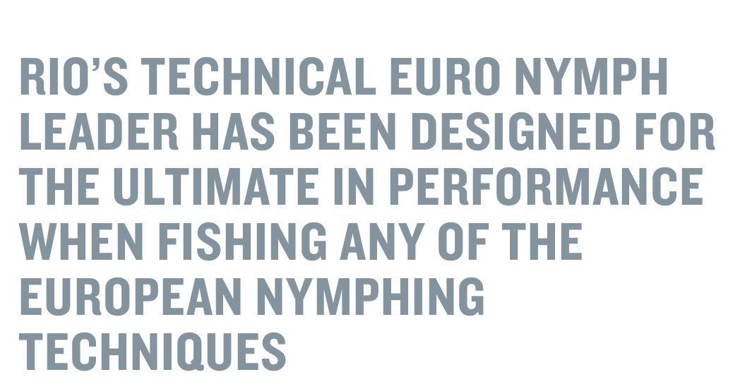 Euro Nymph Leader with Tippet Ring b/w