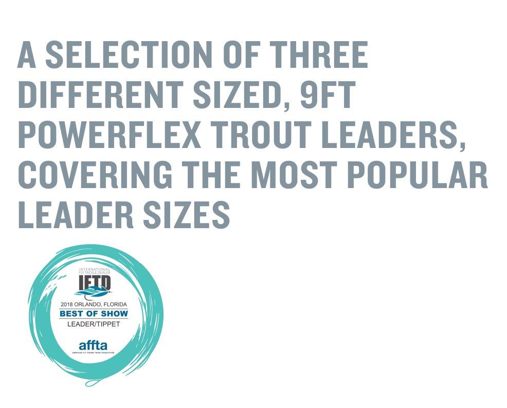 9 ft powerflex trout leader selection 3x,4x,5x