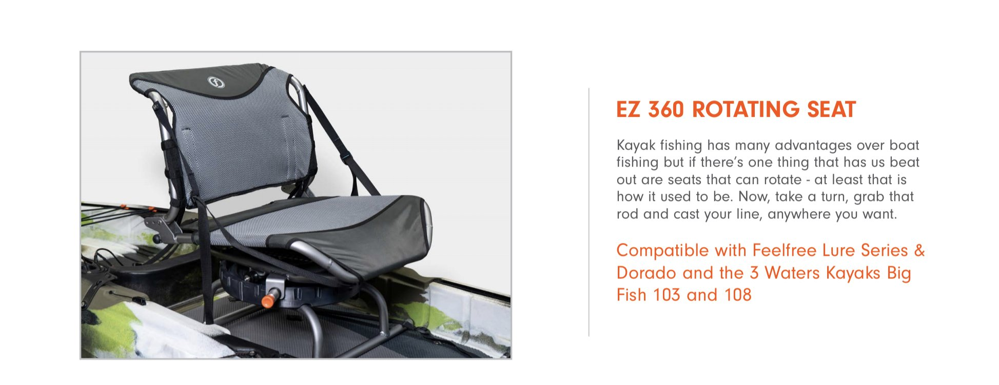 EZ 360 Rotating seat big fish