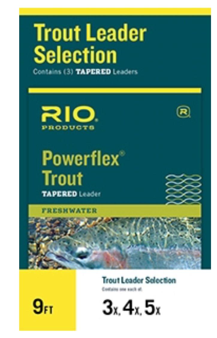 9 ft powerflex trout leader 4,5,6x