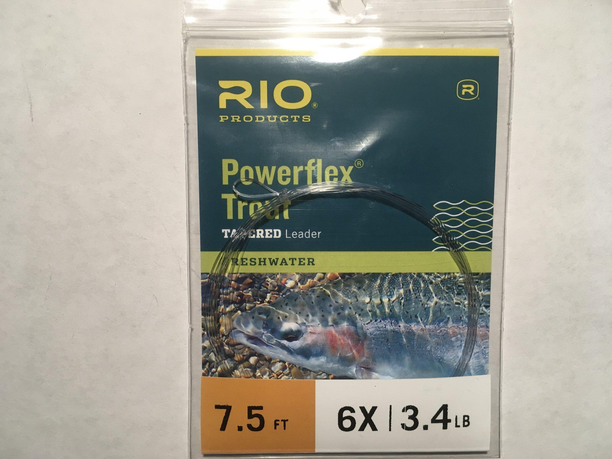 7.5ft 6x Powerflex Trout leader
