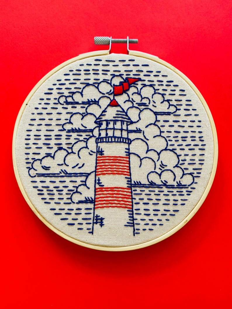 Lighthouse - Hook, Line & Tinker Embroidery Kit